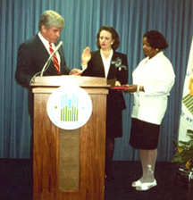 Catherine Austin Fitts sworn in by Jack Kemp