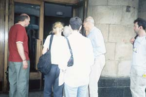 Tourists entering the KGB Museum