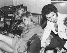 Cyrinda Foxe, Angie Bowie & Tony Defries (US Tour 1972)