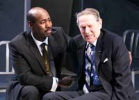 'The Conscientiouis Objector,' DB Woodside & John Cullum, photo Theresa Squire