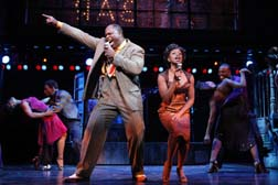 J. Bernard Calloway and Montego Glover as Delray and Felicia in the Beale Street club, photo Joan Marcus