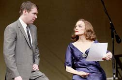Brian Hutchison as Danny and Valerie Harper as Tallulah, photo Carol Rosegg.